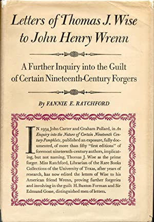 Letters of Thomas J. Wise to John Henry Wrenn: Ratchford, Fannie