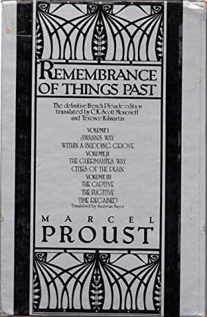 Remembrance of Things Past Complete in 3: Proust, Marcel
