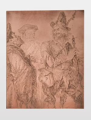 An Etched Copper Printing Plate illustrating