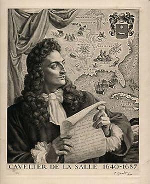 Print of Cavelier de La Salle 1640-1687
