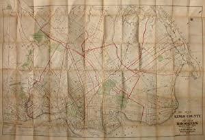 Pocket Map of Kings County Including the City of Brooklyn from Official Records and Surveys: J.B. ...