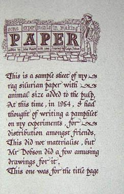 More Papers Hand Made by John Mason: John Mason