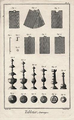 Tabletier from Encyclopédie, ou Dictionnaire raisonné des sciences, des mé...