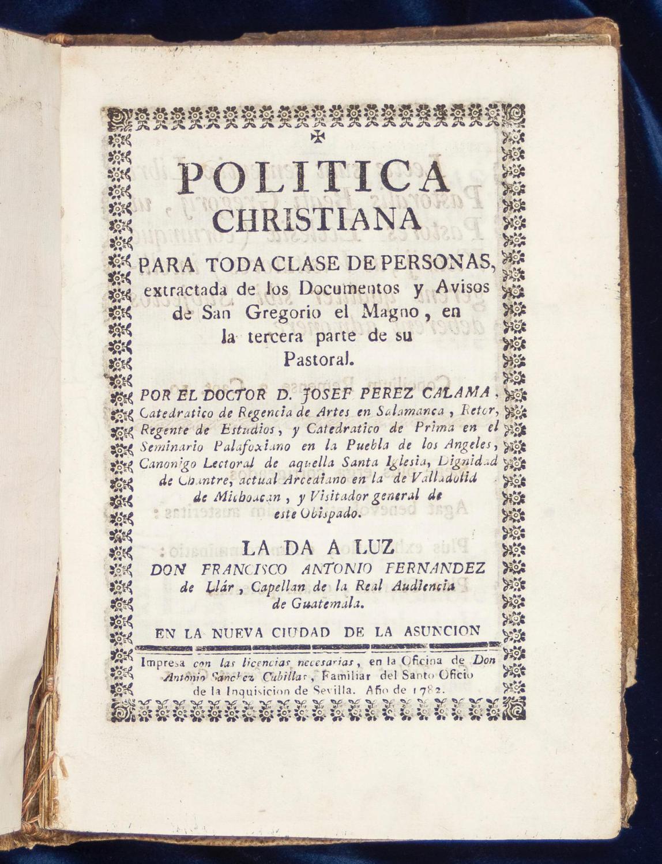 Politica christiana para toda clase de personas Perez Calama, Jose