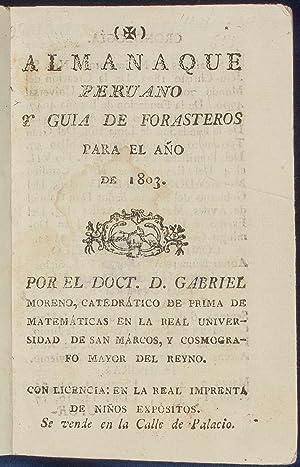 Almanaque Peruano y guia de Forasteros para: Travel Guides] Peru