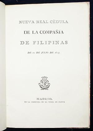 Nueva real cédula de la compañia de Filipinas de 12 de Julio de 1803: Anonymous
