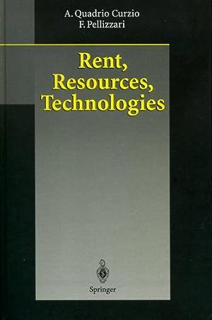 Rent, Resources, Technologies: Quadrio Curzio, Alberto