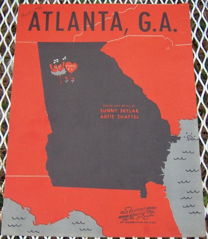 ATLANTA, GA, Sheet Music