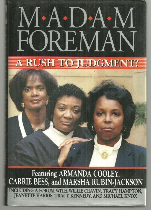 Image for MADAM FOREMAN A Rush to Judgement