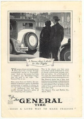 Image for 1926 NATIONAL GEOGRAPHIC GENERAL TIRE, AKRON, OHIO MAGAZINE ADVERTISEMENT