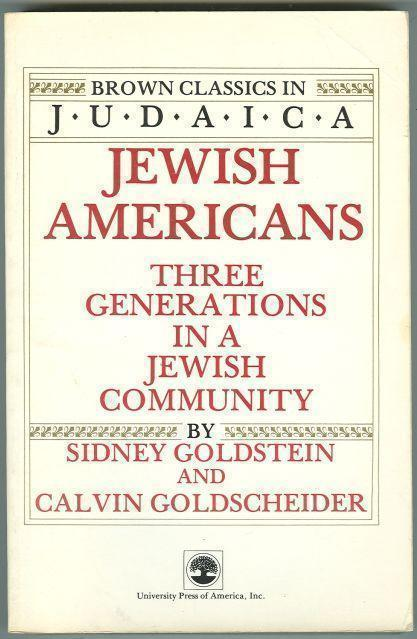 JEWISH AMERICANS Three Generations in a Jewish Community, Goldstein, Sidney and Calvin Goldscheider