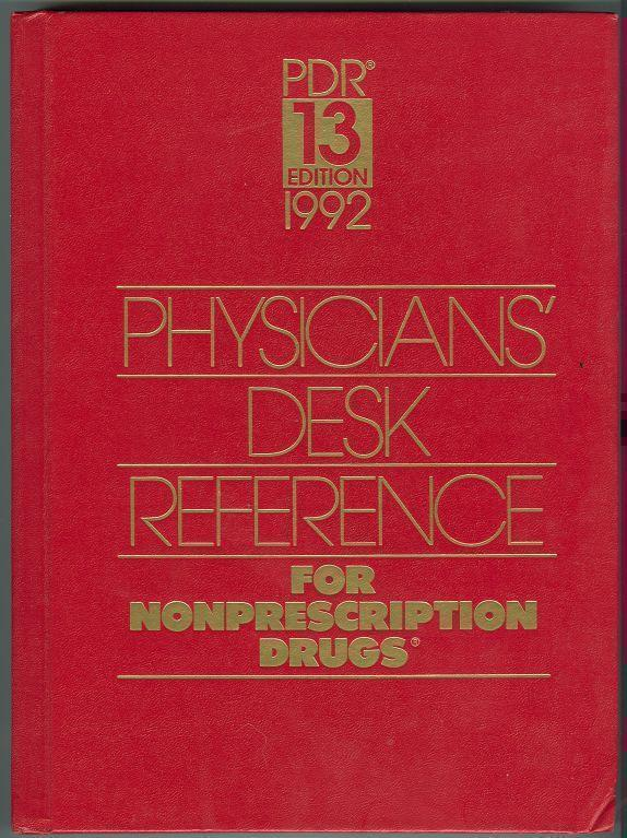 PHYSICIANS DESK REFERENCE FOR NONPRESCRIPTION DRUGS