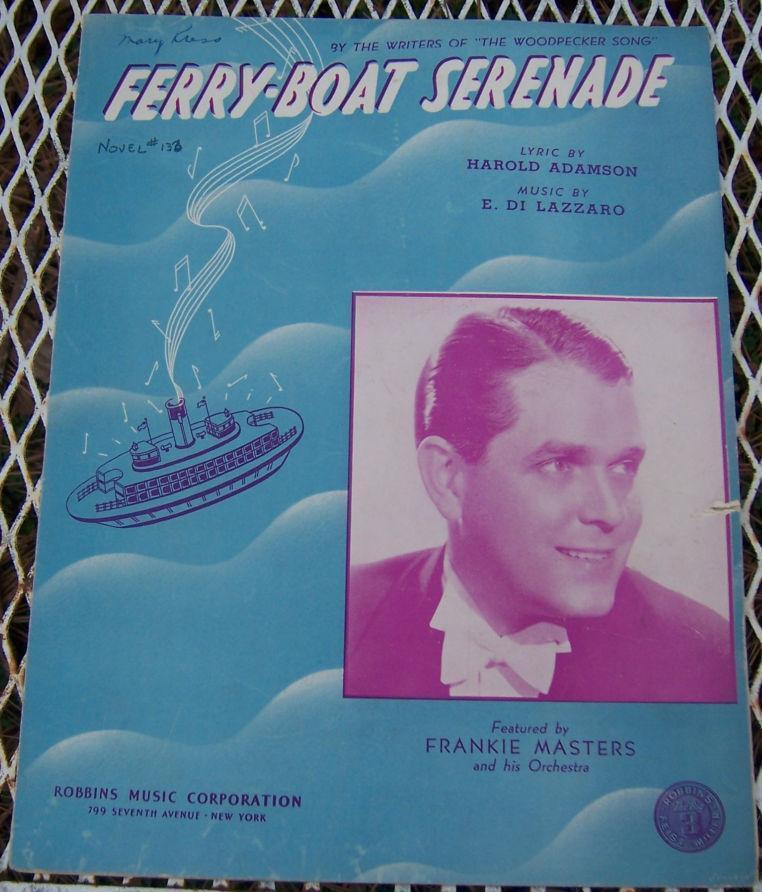 FERRY-BOAT SERENADE, Sheet Music