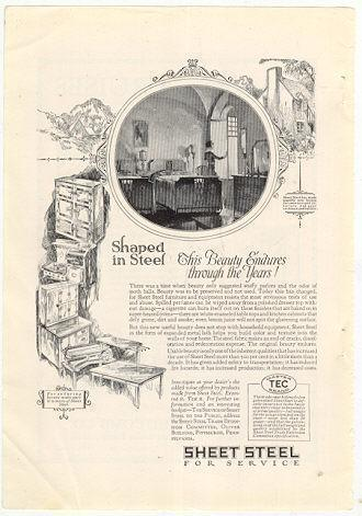 Image for 1926 NATIONAL GEOGRAPHIC SHEET STEEL FOR SERVICE MAGAZINE ADVERTISEMENT