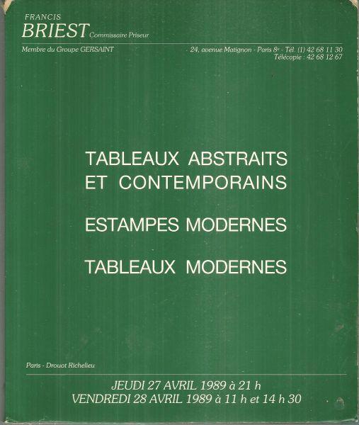 Image for TABLEAUX ABSTRAITS ET CONTEMPORAINS, ESTAMPES MODERNES, TABLEAUX MODERNES April 27 and April 28 1989