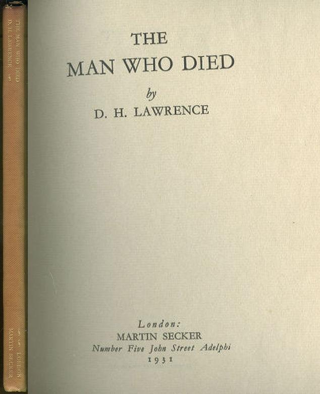 MAN WHO DIED, Lawrence, D. H.