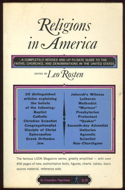 RELIGIONS IN AMERICA, Rosten, Leo editor