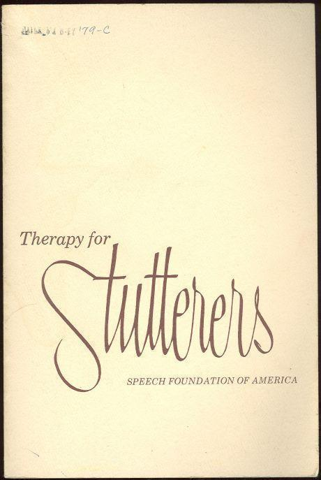 Image for THERAPY FOR STUTTERERS
