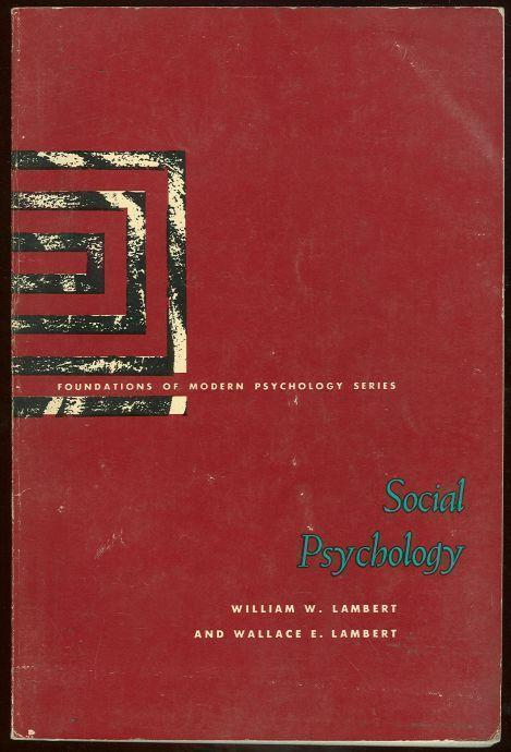 SOCIAL PSYCHOLOGY, Lambert, William