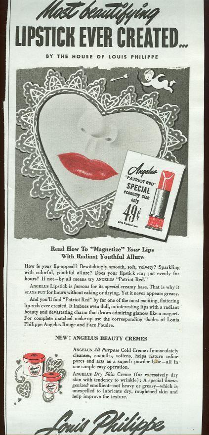 Image for 1943 MAGAZINE ADVERTISEMENT FOR LOUIS PHILIPPE LIPSTICK