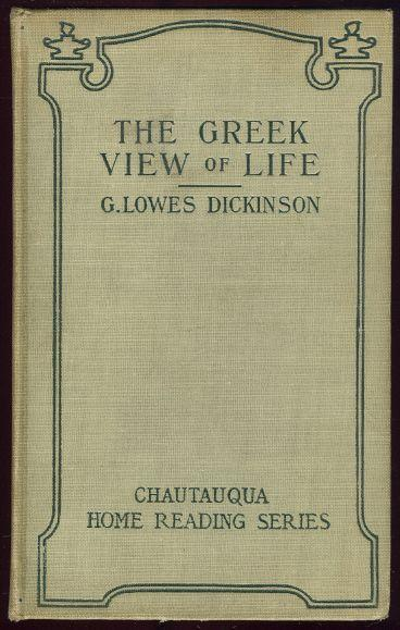 Image for GREEK VIEW OF LIFE