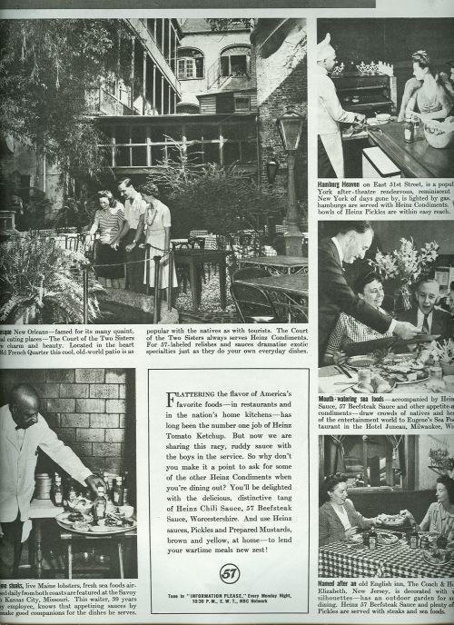Image for 1943 MAGAZINE ADVERTISEMENT FOR HEINZ CONDIMENTS