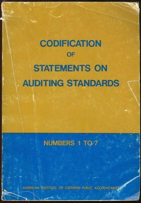 Image for CODIFICATION OF STATEMENTS ON AUDITING STANDARDS Numbers 1 to 7