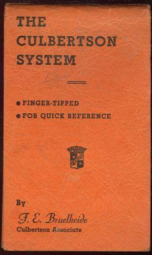 CULBERTSON SYSTEM Finger Tipped for Quick Reference, Bruelheide, F. E.