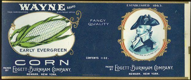 Image for WAYNE BRAND EARLY EVERGREEN CORN CAN LABEL