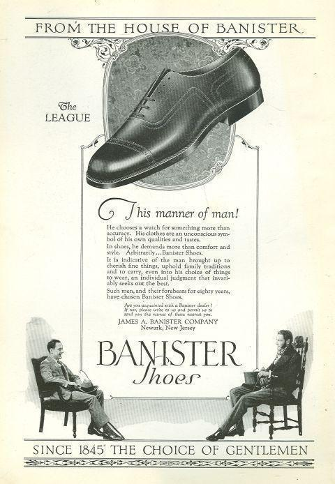 Image for 1925 NATIONAL GEOGRAPHIC BANISTER SHOES MAGAZINE ADVERTISEMENT
