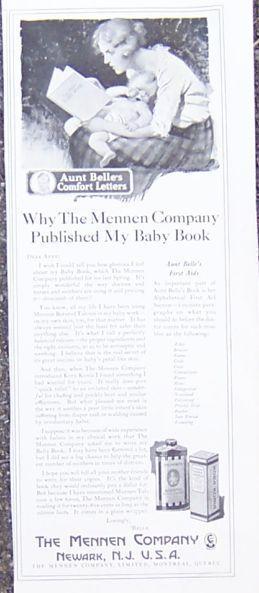 Image for 1921 LADIES HOME JOURNAL MENNEN TALCUM POWDER MAGAZINE ADVERTISEMENT