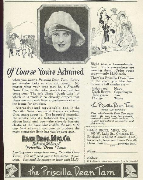 Image for 1921 LADIES HOME JOURNAL PRISCILLA DEAN TAM MAGAZINE ADVERTISEMENT