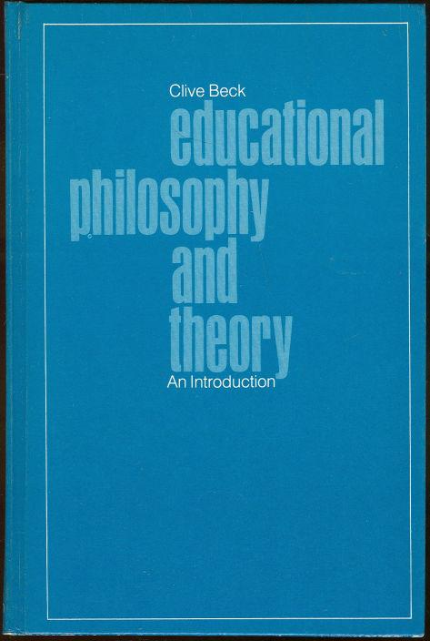 Image for EDUCATIONAL PHILOSOPHY AND THEORY An Introduction