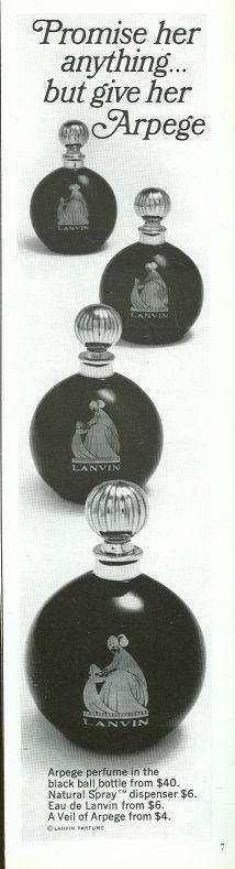 Image for 1967 REALITES MAGAZINE ADVERTISEMENT FOR ARPEGE PERFUME FROM LANVIN