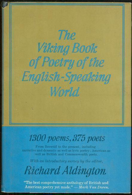 Image for VIKING BOOK OF POETRY OF THE ENGLISH SPEAKING WORLD Volume I