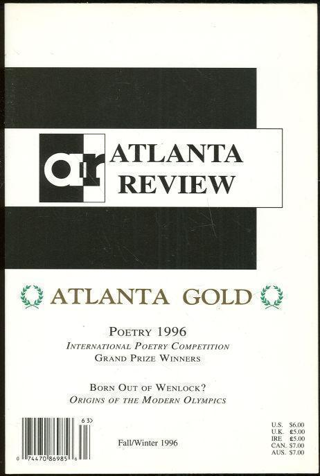 ATLANTA REVIEW, ATLANTA GOLD Fall/winter 1996 Volume III, Issue Number 1, Veach, Daniel editor