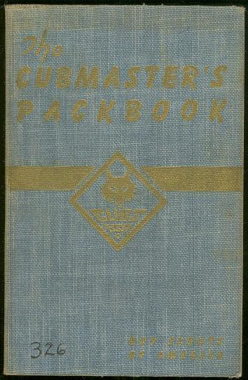 CUBMASTER'S PACKBOOK, Boys Scouts of America