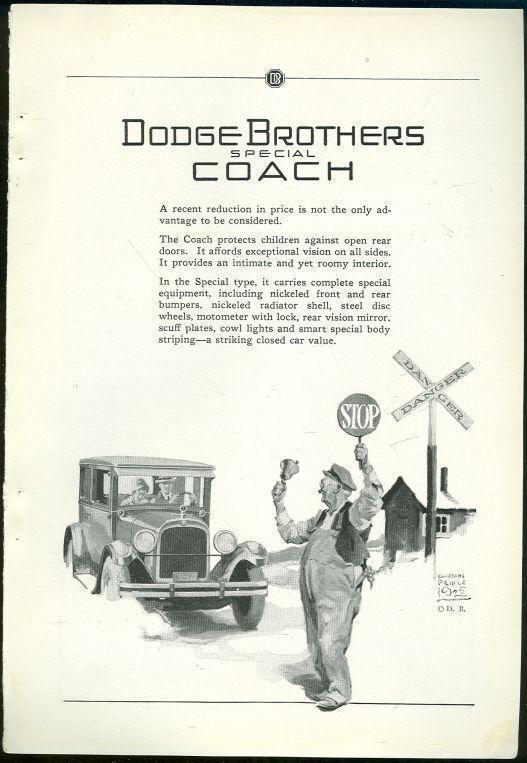 Image for 1925 NATIONAL GEOGRAPHIC DODGE BROTHERS MOTOR CARS MAGAZINE ADVERTISEMENT