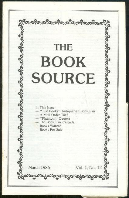 Image for BOOK SOURCE MONTHLY MAGAZINE MARCH 1986