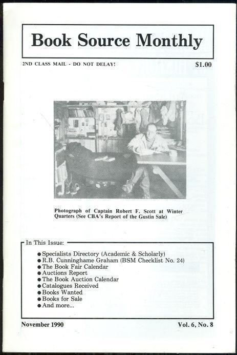HUCKANS, JOHN - Book Source Monthly Magazine November 1990