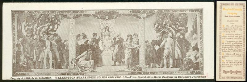 Image for VICTORIAN BOOKMARK FROM MARYLAND CASULTY CO. WITH MURAL PAINTING
