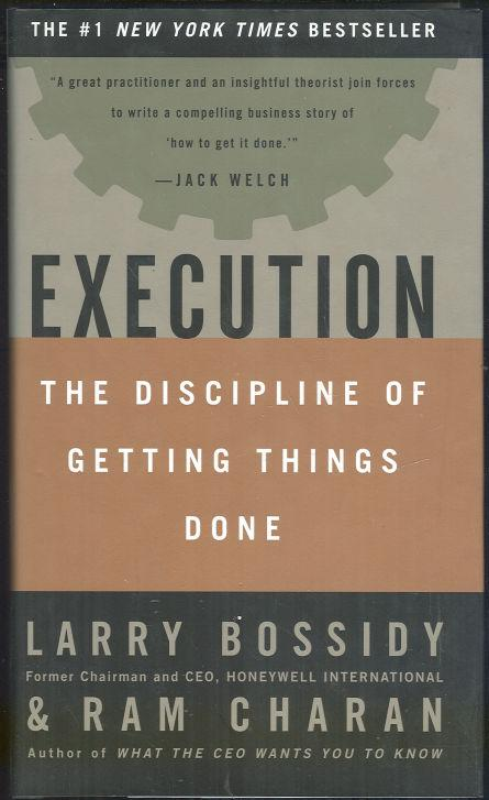 Image for EXECUTION The Discipline of Getting Things Done