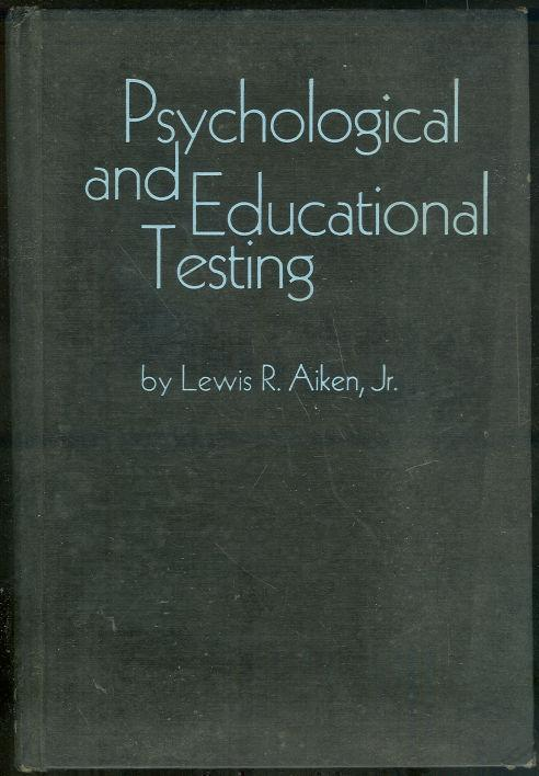Image for PSYCHOLOGICAL AND EDUCATIONAL TESTING