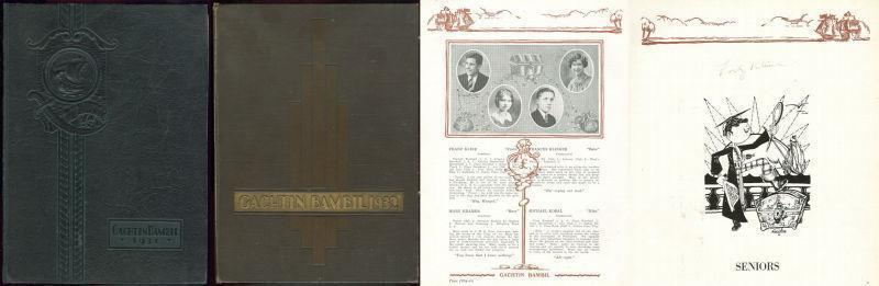 Image for TWO YEARBOOKS FROM LEIGHTON HIGH SCHOOL, LEIGHTON, PENNSYLVANIA, 1931 AND 1932