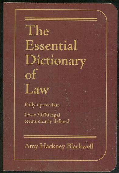 Image for ESSENTIAL DICTIONARY OF LAW