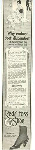 1915 LADIES HOME JOURNAL RED CROSS SHOES: Advertisement