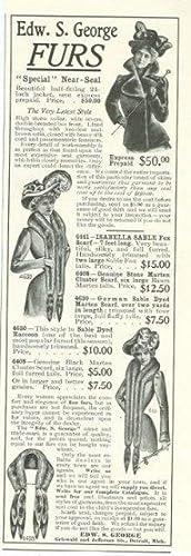 1901 LADIES HOME JOURNAL EDWARD S. GEORGE: Advertisement