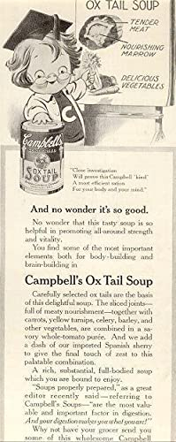 1916 LADIES HOME JOURNAL CAMPBELL'S OX TAIL: Advertisement