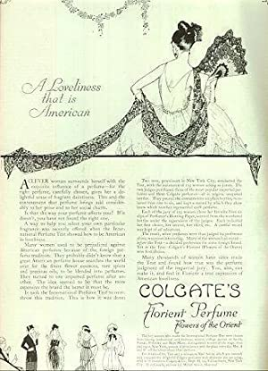 1921 LADIES HOME JOURNAL COLGATE'S FLORIENT, FLOWERS: Advertisement