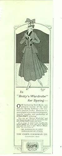 1916 LADIES HOME JOURNAL STYLE CRAFT MAGAZINE: Advertisement